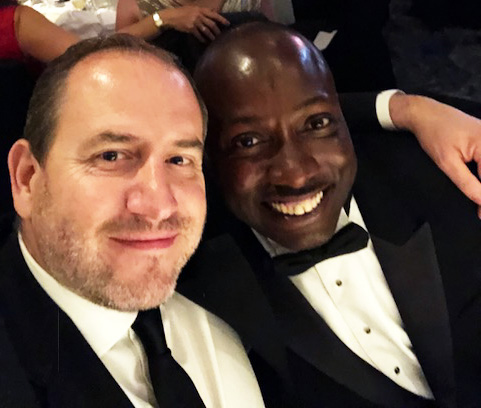 - At The Cateys Awards with the incredible Leon Seraphin