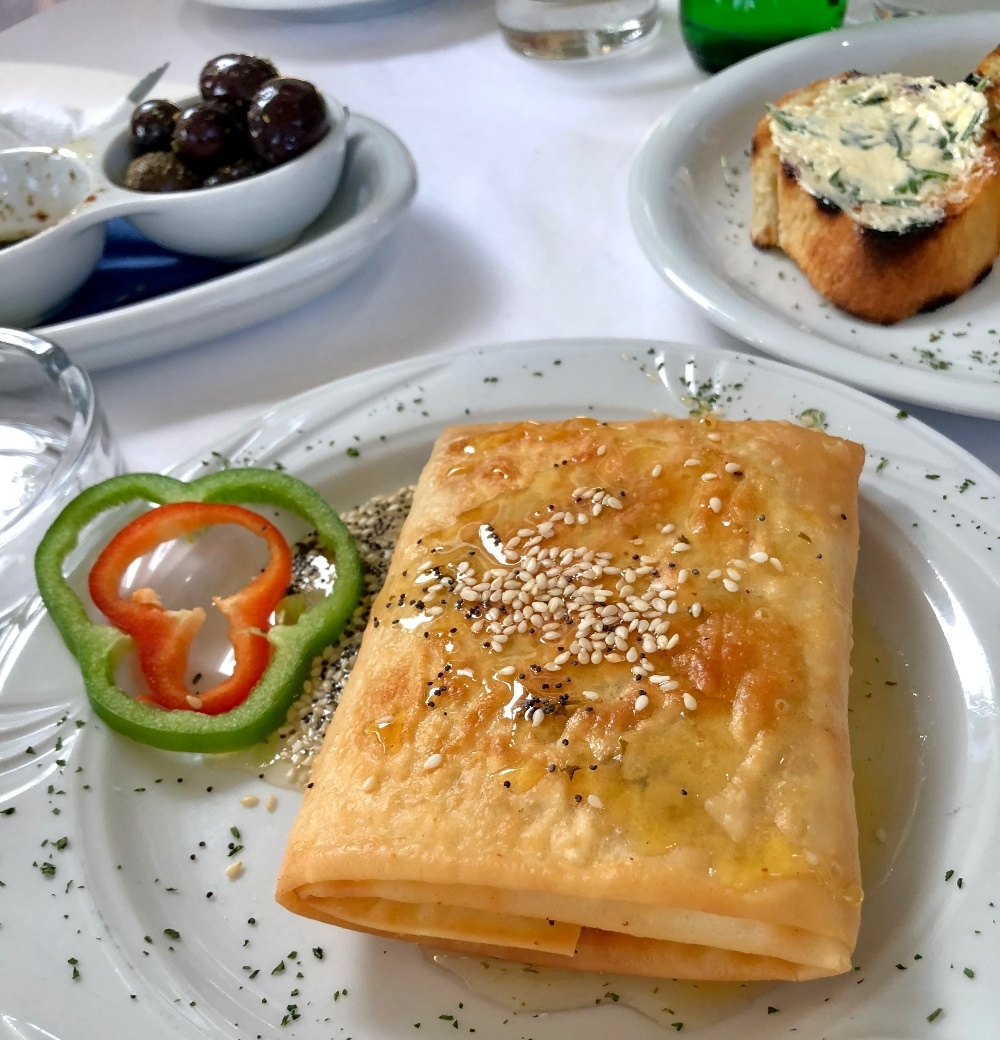 - Feta and filo with honey