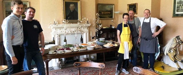 - Preparing a meal at Anne Machin's house