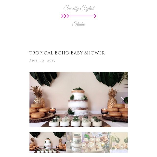 New post on the blog /// All the details from my Tropical Boho Baby Shower /// Link in bio.