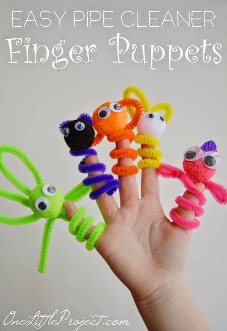Pipe Cleaner Finger Puppets!