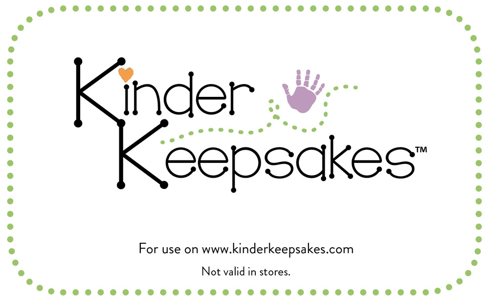 This gift card can be used on any items in the kinderkeepsakes.com store.