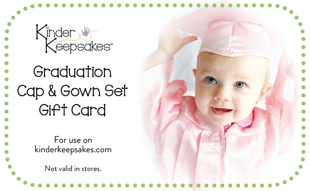This gift card can only be used on Graduation Cap & Gown Sets