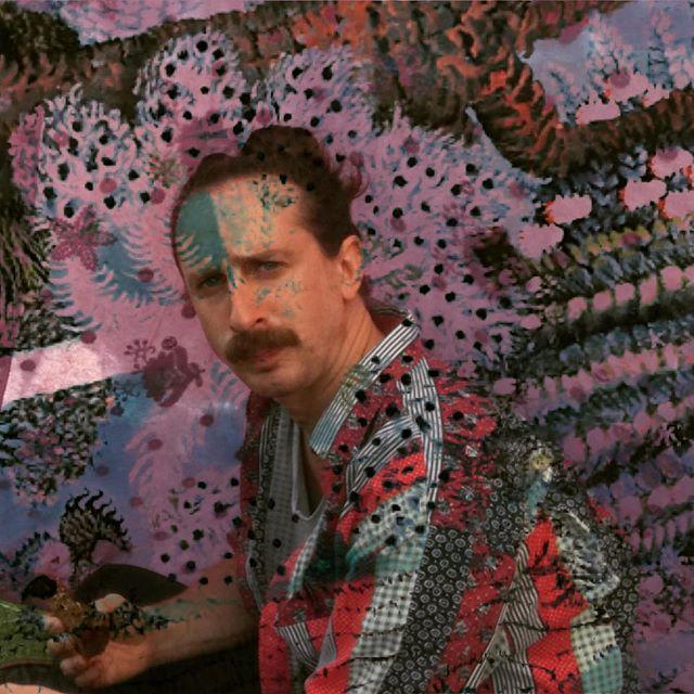 #artwork #drummer #moustache #amsterdam #psychedelicart