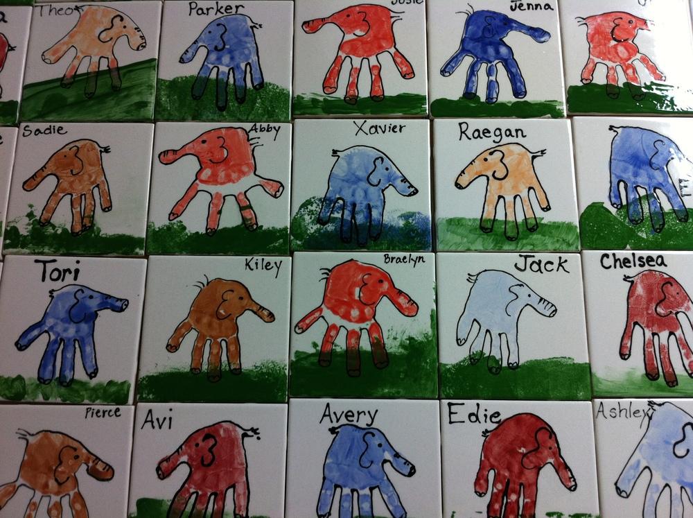 Preschool hand prints. Sherwood Oaks Christian Church
