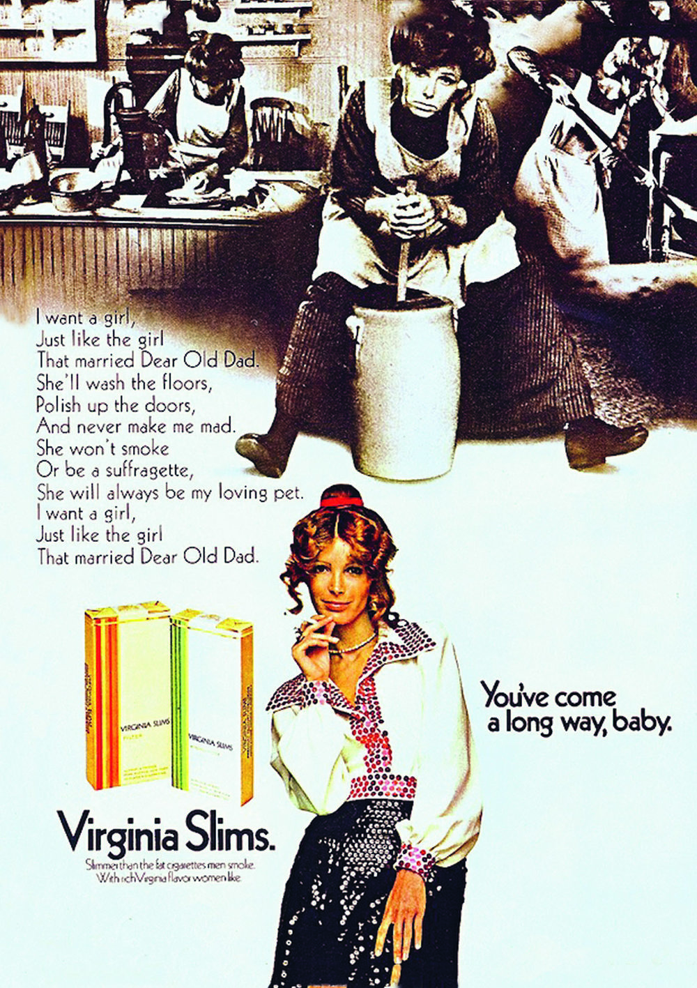 'You've come a long way, baby', Virginia Slims, 1968