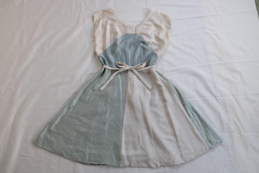 Scrap-Silk Wrap Dress