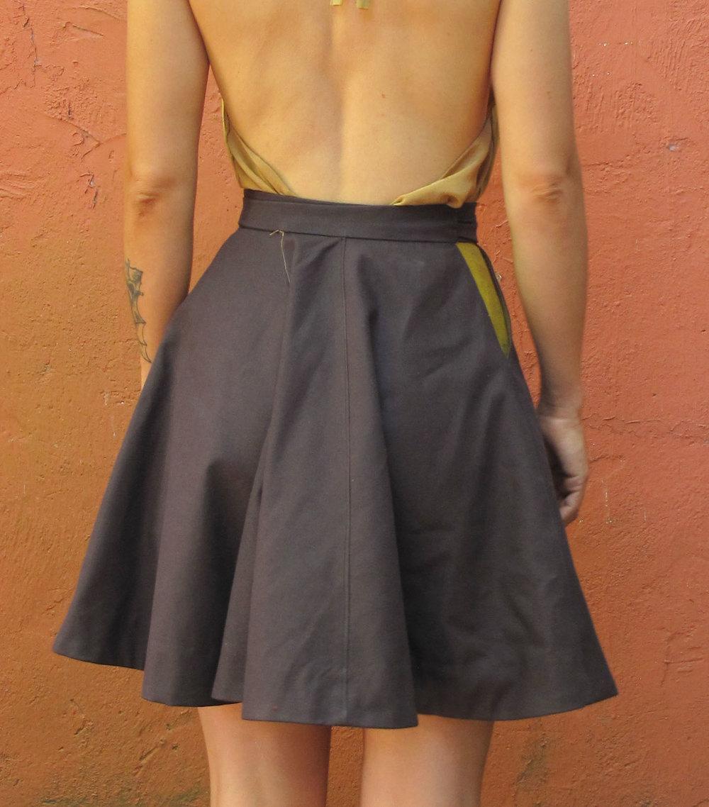 Wrap Fold Skirt