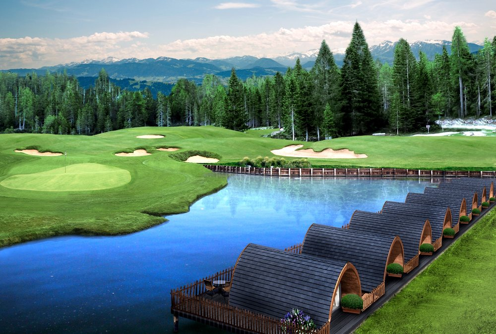 high end Glamping pods for golf courses