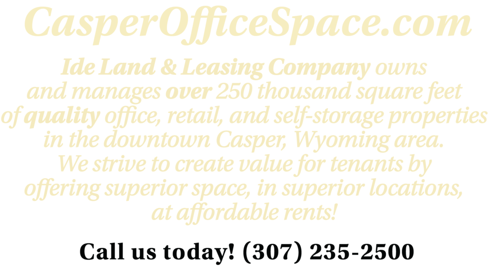 casper wy office space downtown