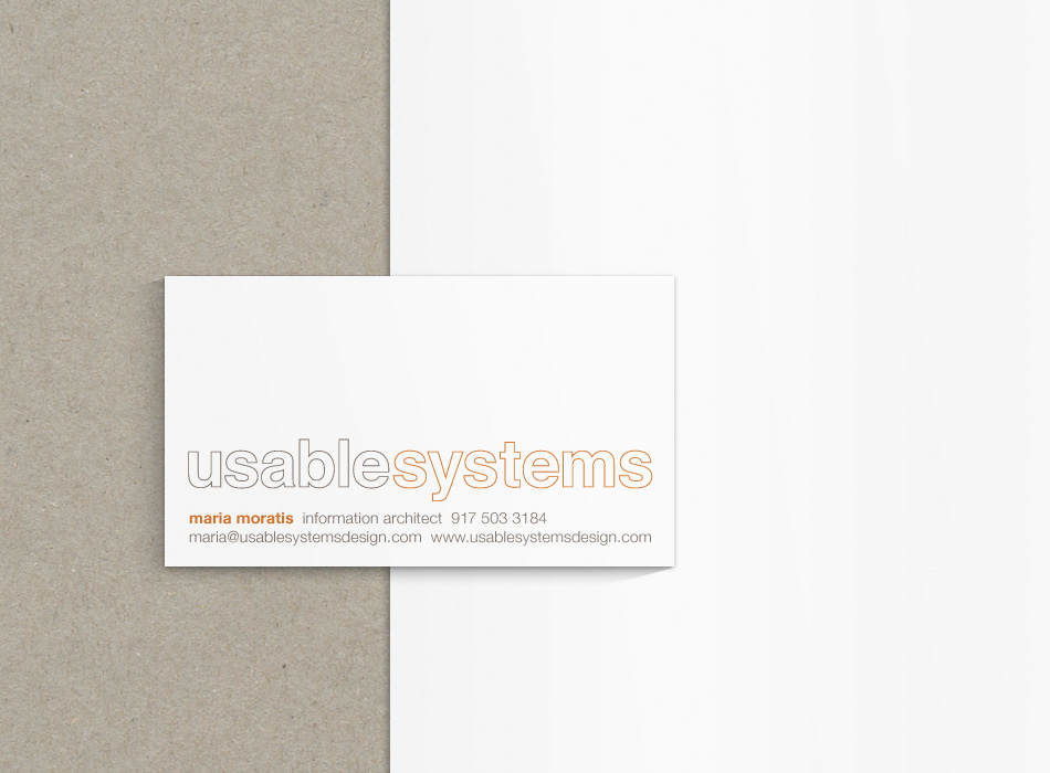 Usable Systems Card