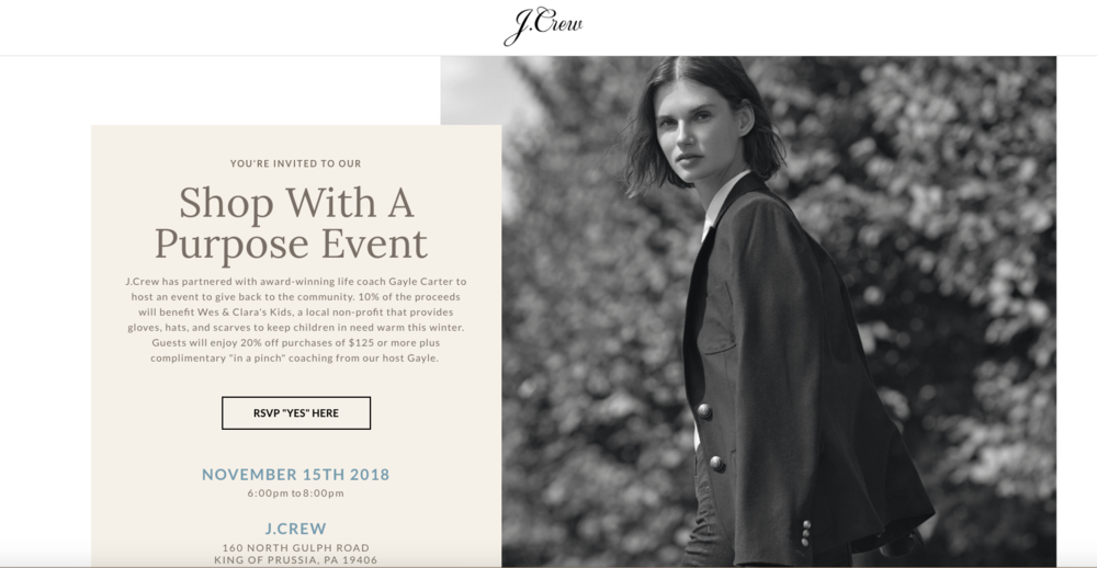J.Crew Event - Shop With A Purpose