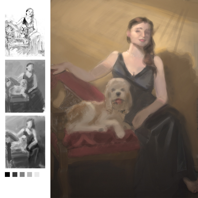 Value studies_digital_for portrait in oil; 36x42.jpg