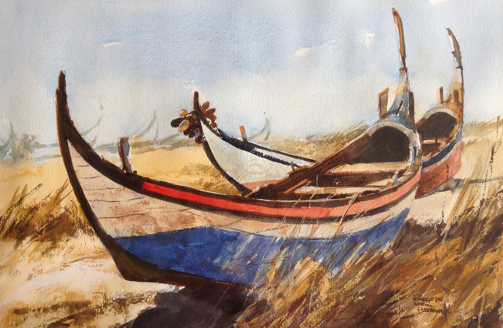 Fishing Boats; Portugal_After Pleissner