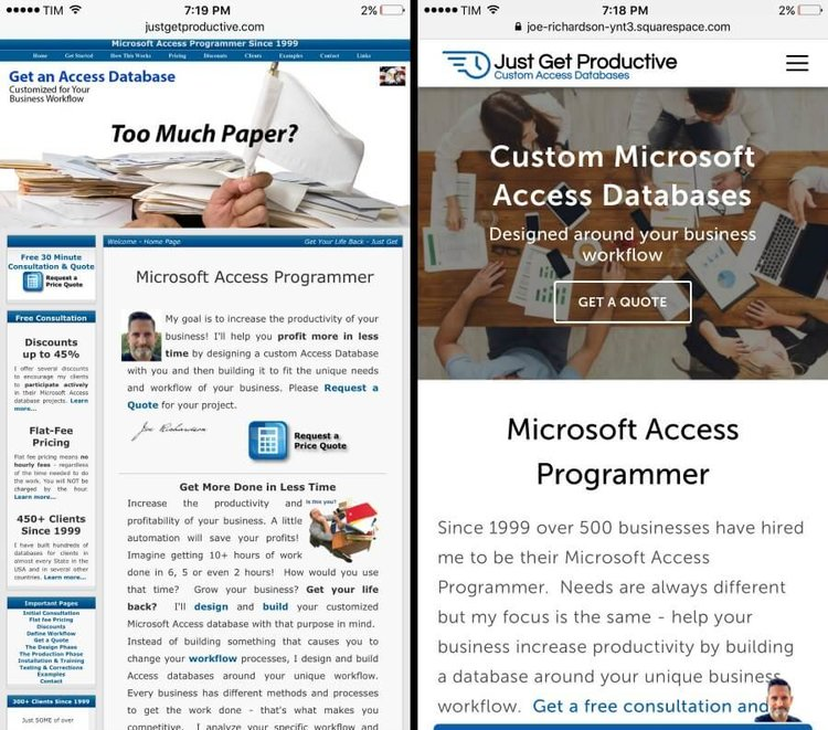 Before and After — Microsoft Access Programmer - Get a Free ...