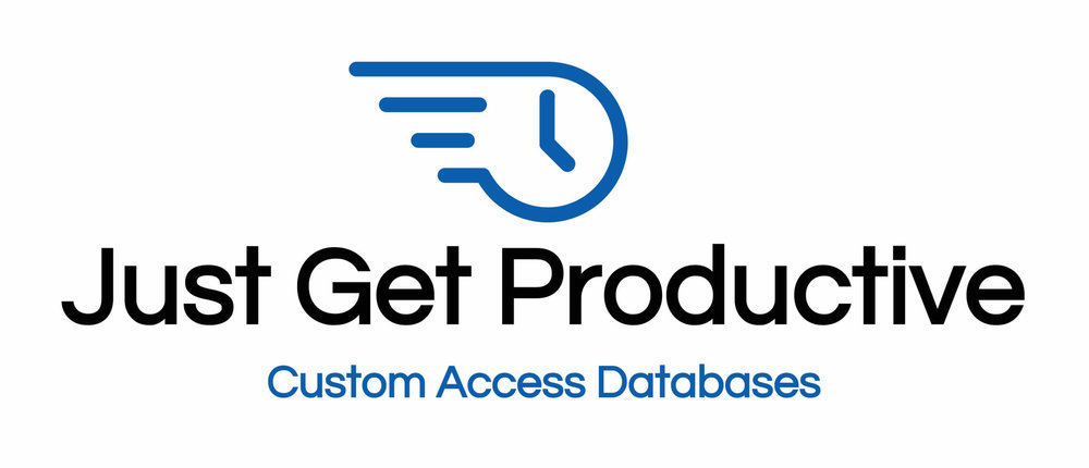 Just Get Productive Microsoft Access database programmer logo