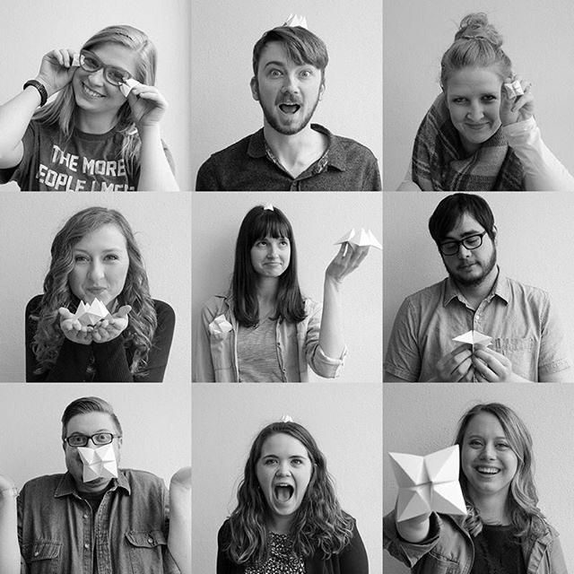 The journey to our BFA show is unfolding. Meet our first nine designers; Shelby, Ryan, Carly, Jordan, Audrey, Jeff, Spencer, Autumn, Sarah. #unfoldBFA #kstateaiga