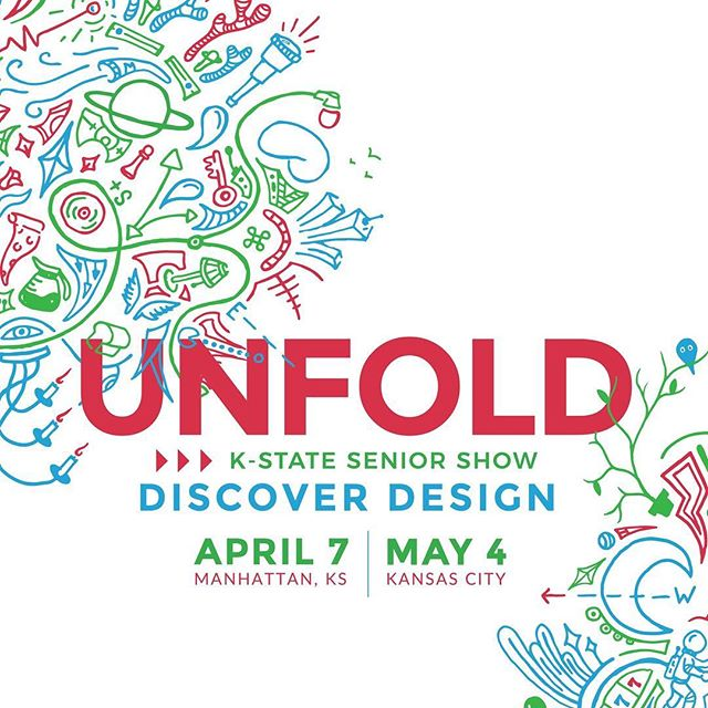 Mark your calendars! We have two very exciting shows coming up. We will be sharing our hard work with friends and family in MHK on April 7 and our main show @rednovalabs in KC will be on May 4! #unfoldBFA #kstate #aiga