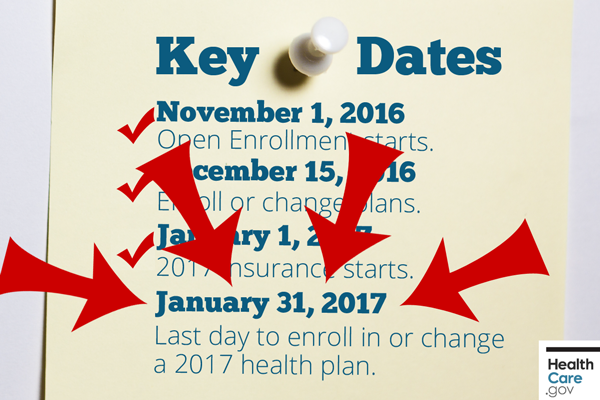 Last Chance Events Open Enrollment 2017 Ends January 31