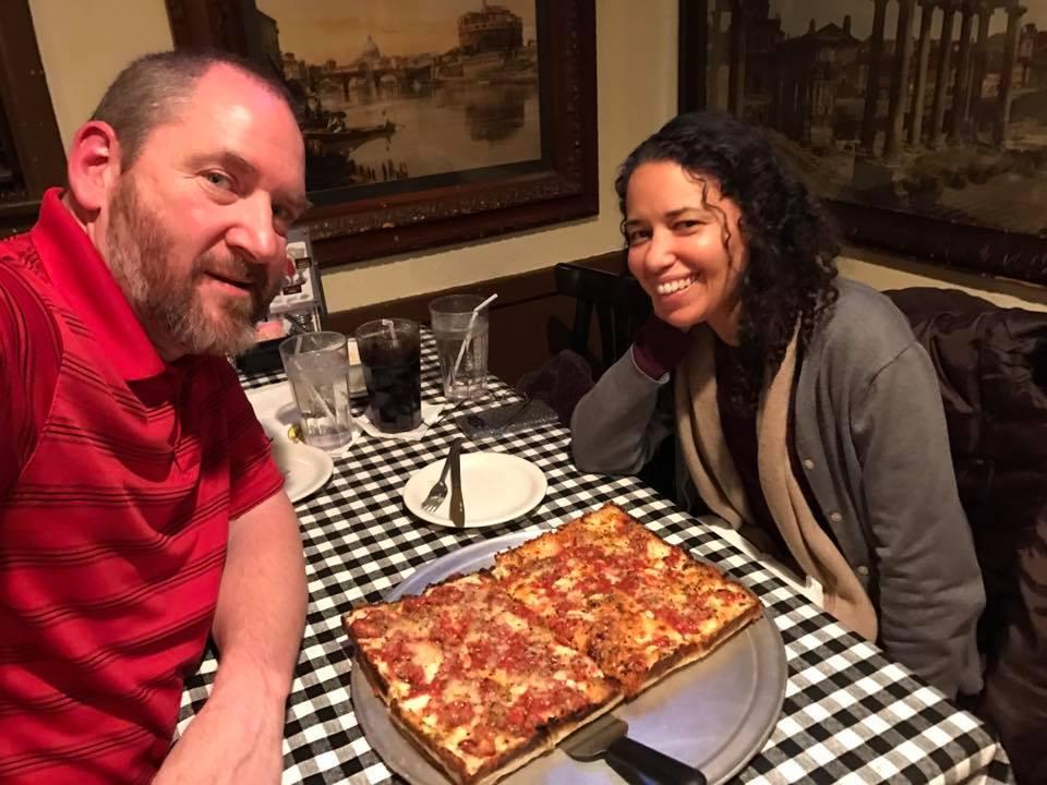 Buddy's Pizza in Detroit.Kelly's favorite!