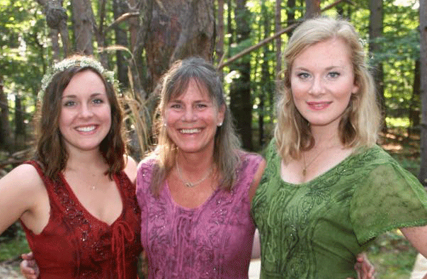 Krista and her daughters, Lucy and Sally.