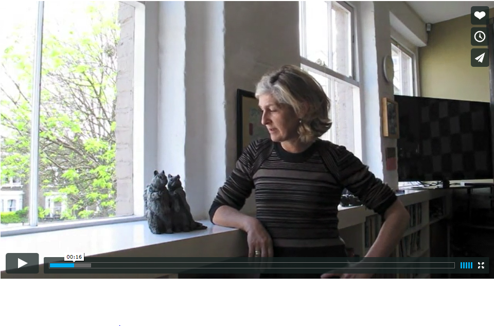 Laura Ford speaking at her London studio, 2012