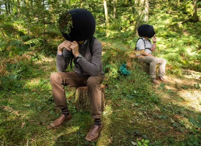 In the Eyes of the Animal at Grizedale Forest. Viewers enter into the virtual reality world inside a specially designed headset.