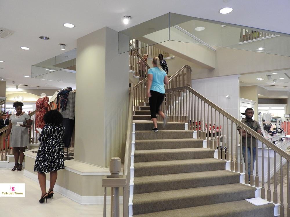 BCFWeek 2015 - Talbots - Staircase Runway.JPG