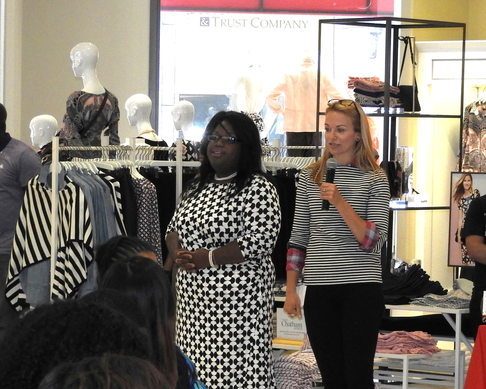 BCFWeek 2015 - Talbots - Sandra and Talbots Manager.JPG