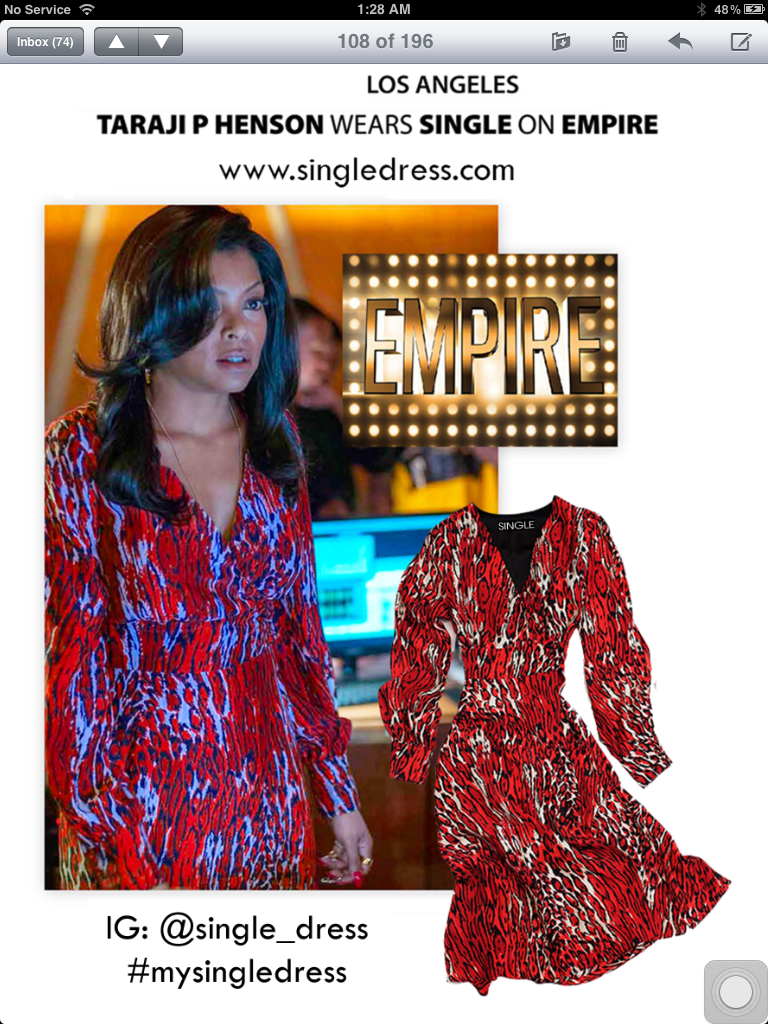 Single Dress-Seen on Empire