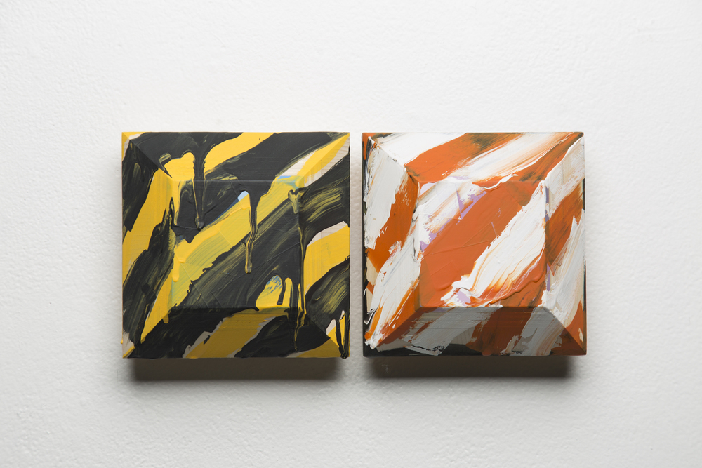 left: 'Caution (5)', 2015. right: 'Move Along (9)', 2015.
