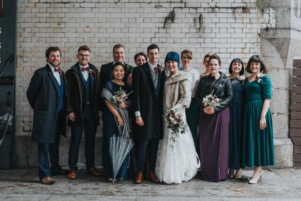 Vintage bridal party- Photo by Jay Tunbridge