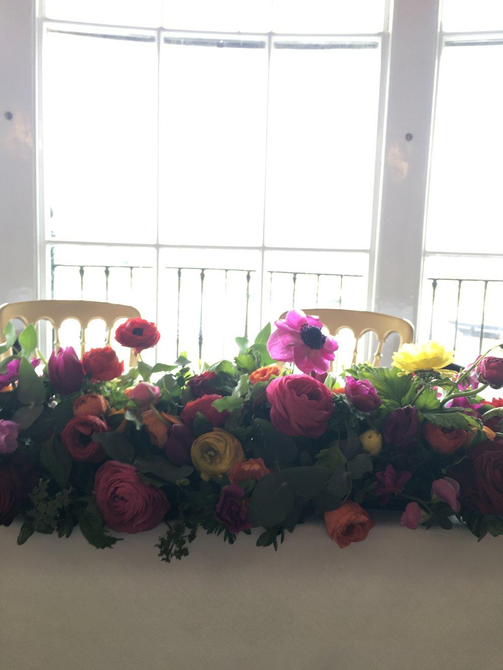 Trafalgar tavern greenwich ceremony flowers
