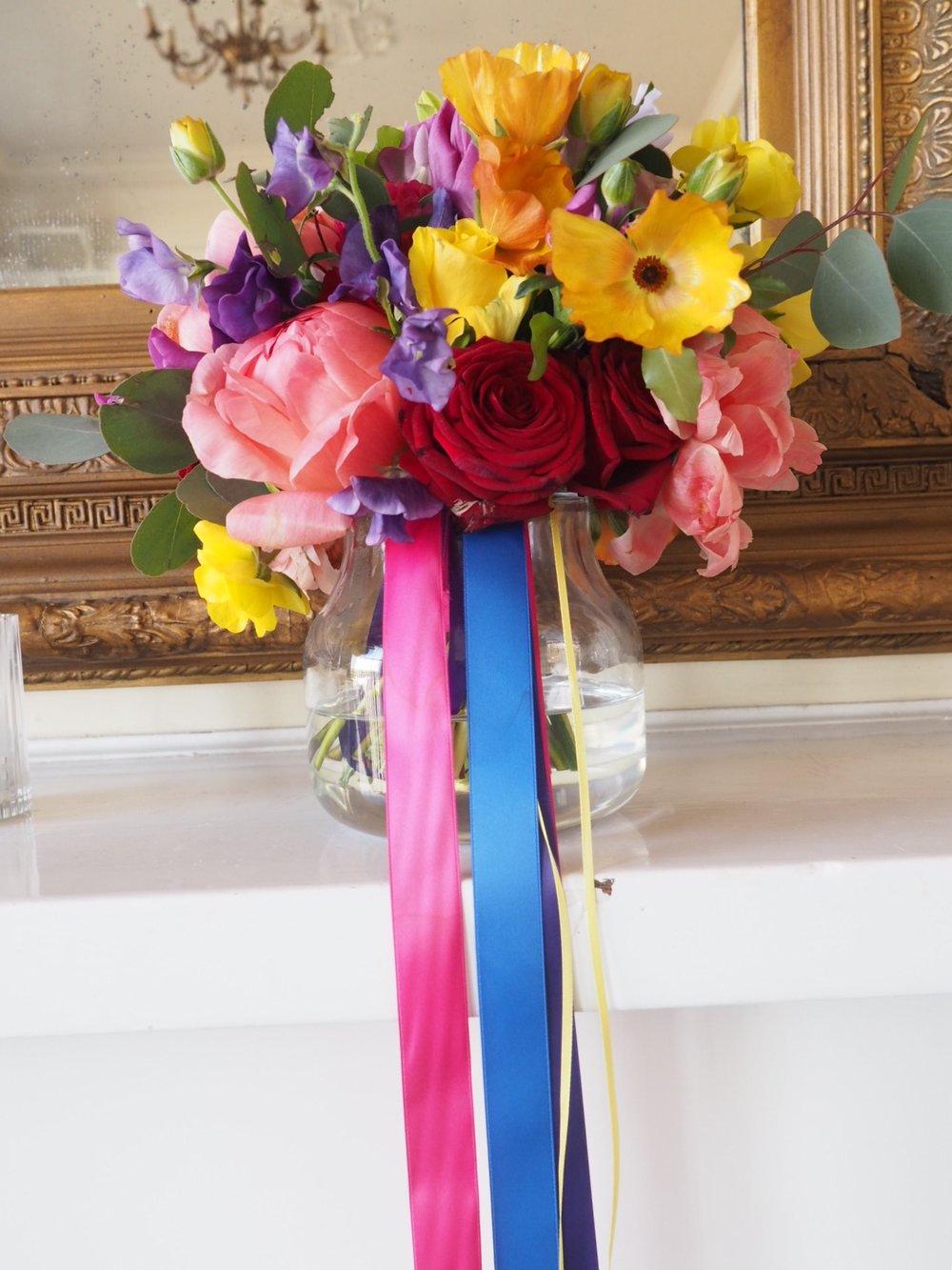 Trafalgar Tavern Greenwich wedding bridal bouquet