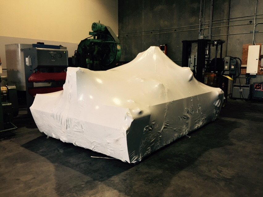 This piece of Machinery was wrapped for shipment to Edmonton this week.