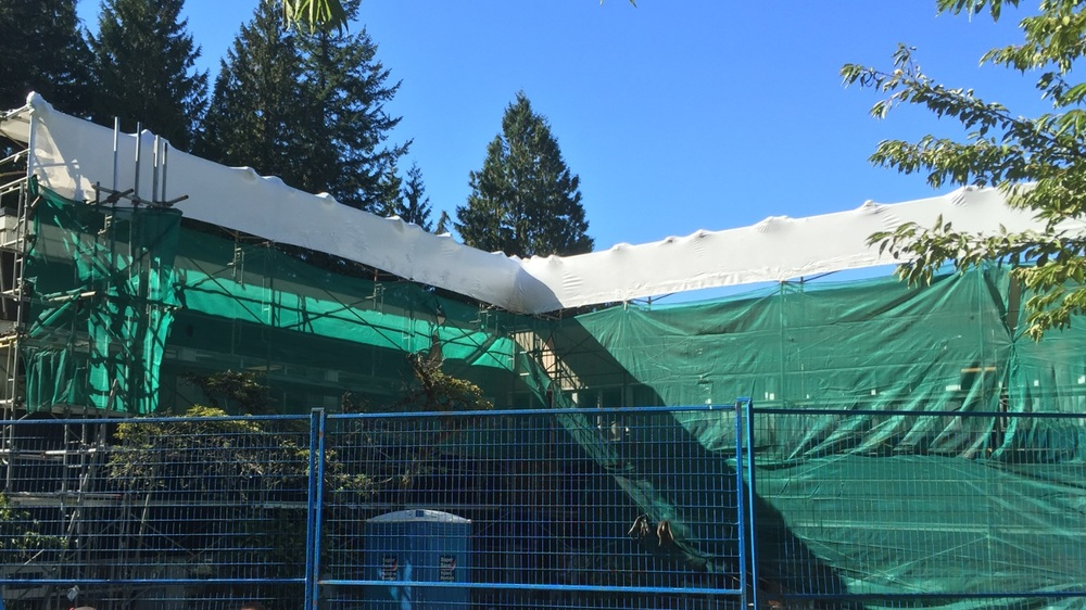 Shrink Wrap by Rhino Wrap. Debris netting by others.