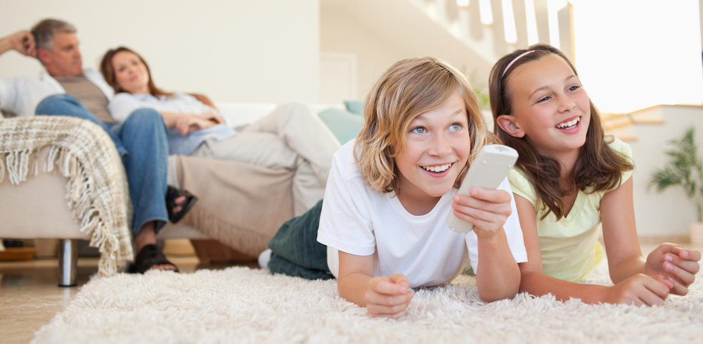 Family-Lounging-Comfortably-at-Home