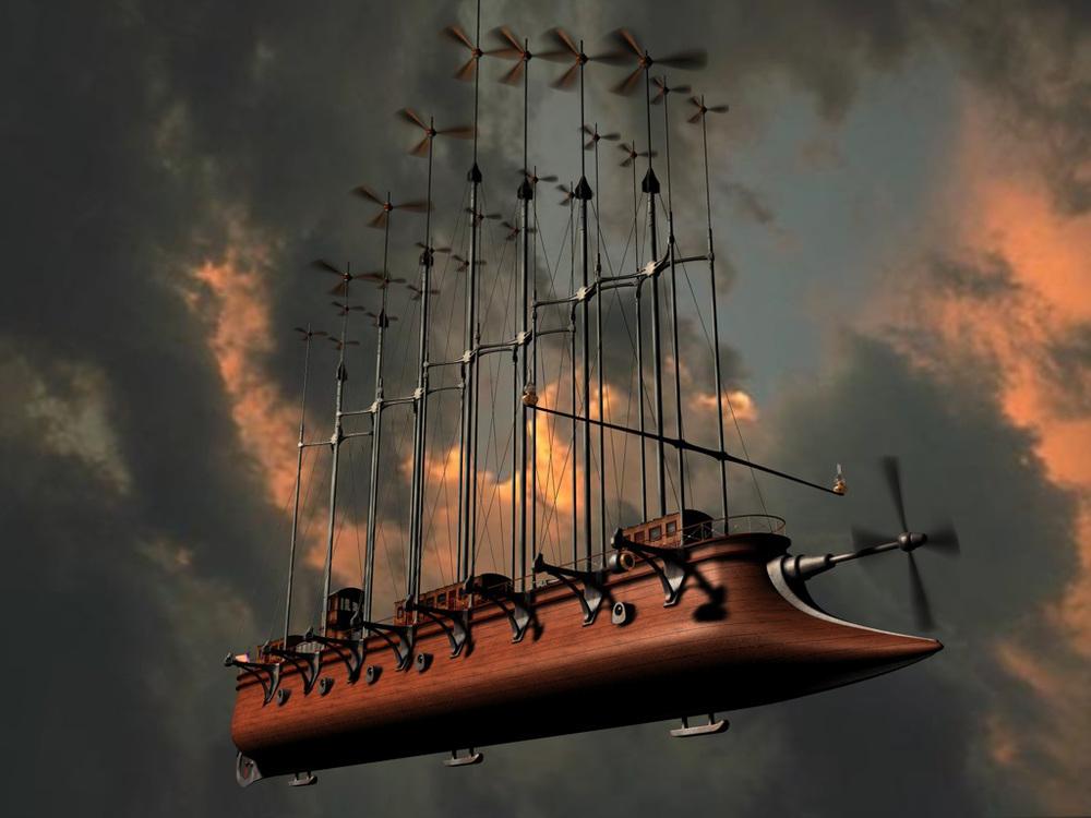 El Albatros, helicóptero imaginado por Julio Verne