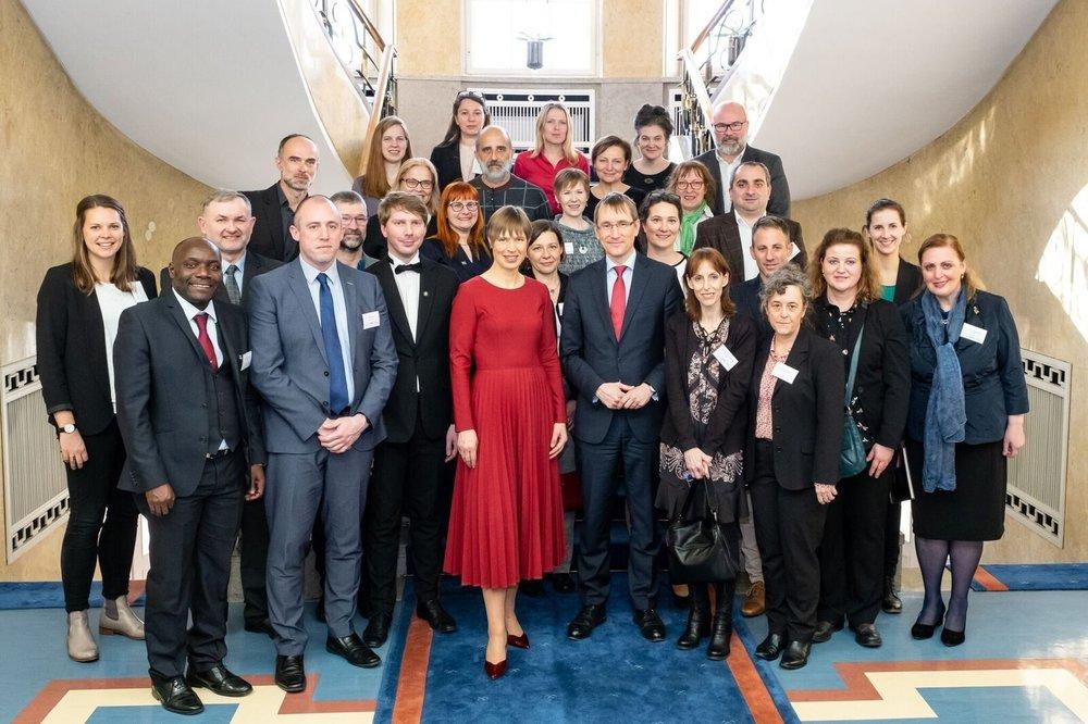 Recepción de la Red EUSTORY por la presidenta estonia Kaljulaid | Foto: Aron Ur