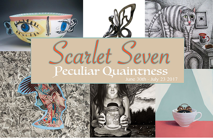 Happy to announce 8 of my newest works will be in the Peculiar Quaintness show at the Scarlet Gallery this Friday June 30th - July 23, 2017. Reception Fri. June 30, 6-9p 137 4th St, Troy, NY  https://www.facebook.com/scarlet.seven.gallery     O riginal work and  p rints will be available.