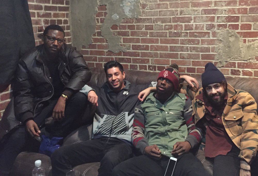 Jerrod Carmichael, Martin Amini, Jamar Neighbors, and Ramy Yousef
