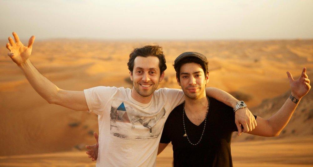Max Amini and Martin Amini Dubai 2012
