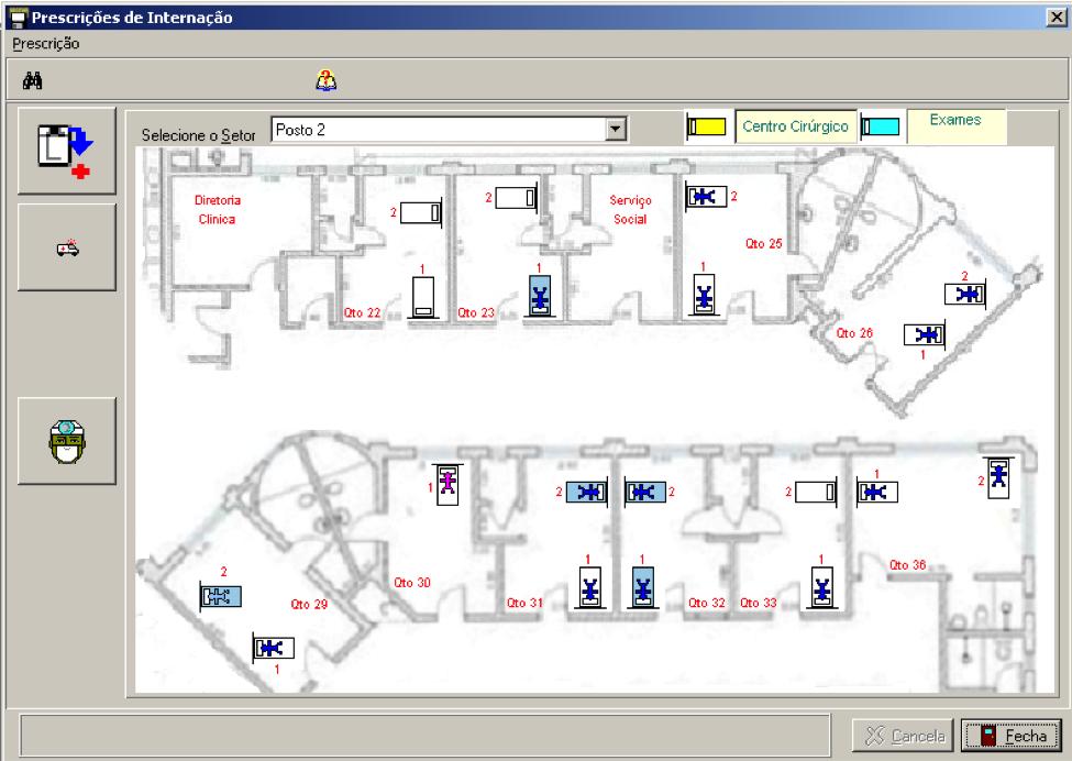 Interface amigável para localização dos pacientes