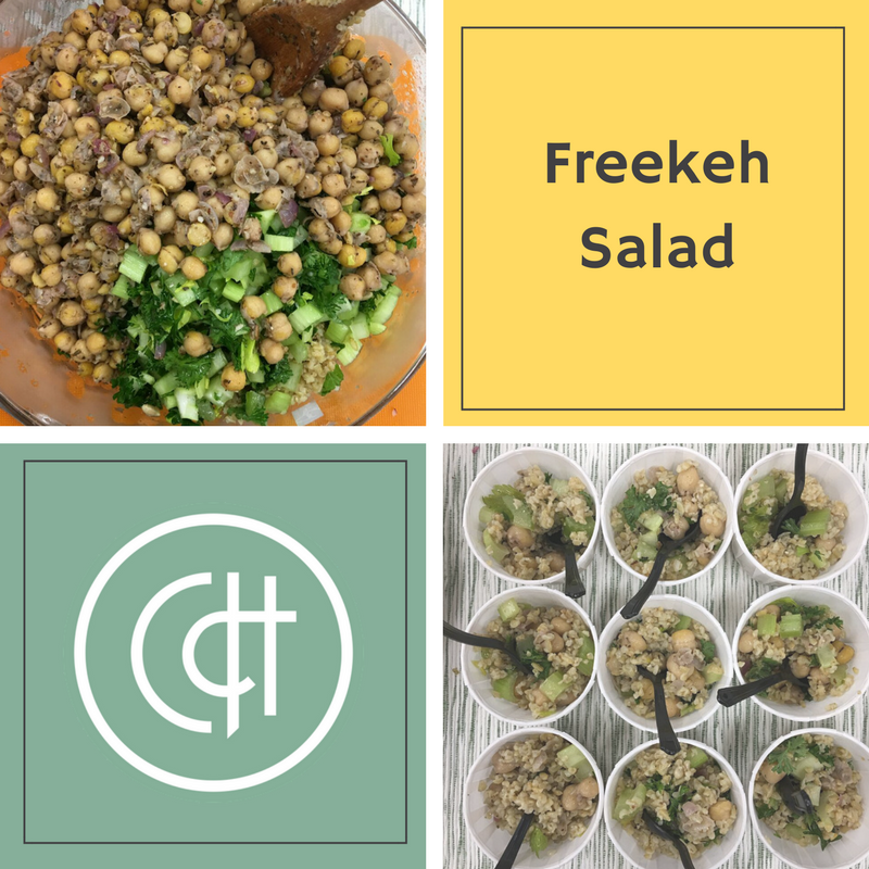 Get on the new grain train! Freekeh contains double the amount of protein and fibre as quinoa. This salad is the perfect way to try out the earthy grain by contrasting its nutty flavour with the fresh flavours of the parsley and mint.
