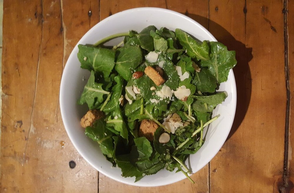 Crisp, flavorful and tangy we have created a fresh, new, lighter spin on your traditional Caesar salad!