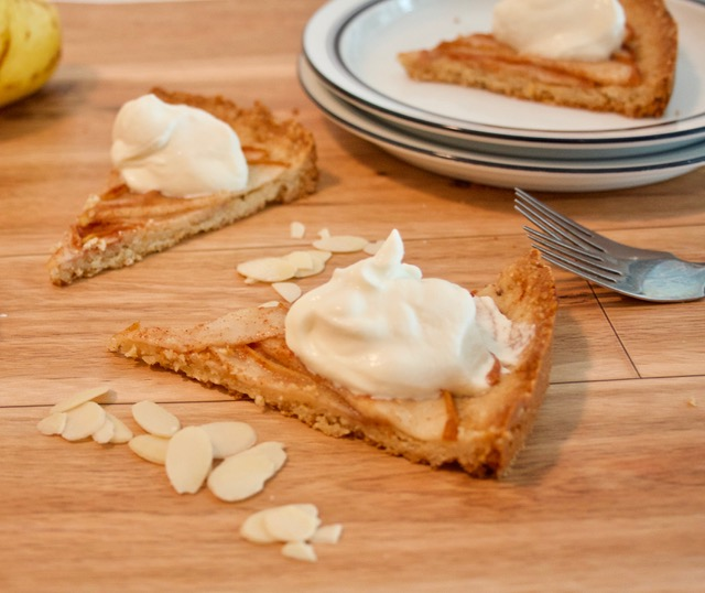 This tart is the pear-fect combination of crisp spicy sweetness all wrapped up in a gluten free pastry!