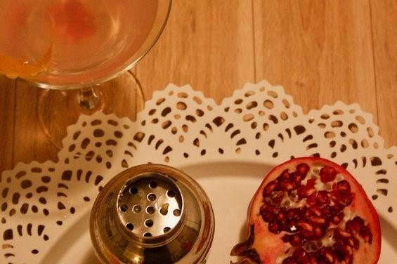 Tart pomegranate meets rich coconut Malibu!