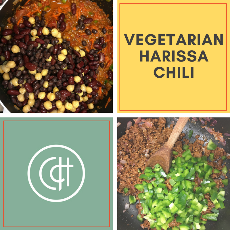 Aromatic with a little spice this vegetarian chili pairs well with cornbread!