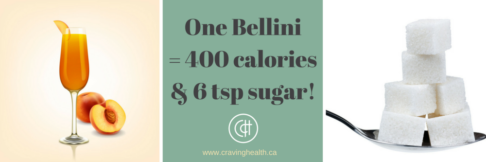 calories and sugar in bellini