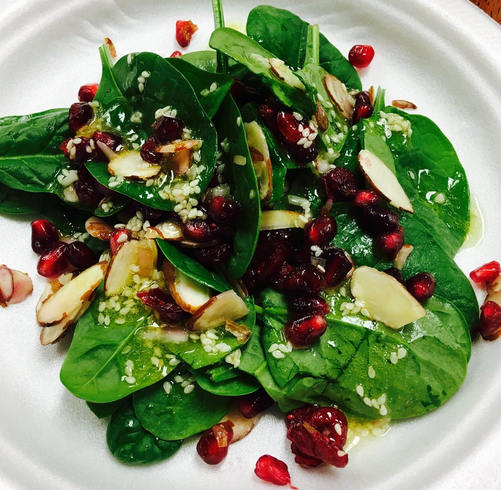 Pomegranate spinach salad 2.jpeg